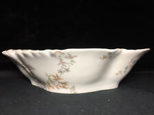 H & co. Haviland & Co. schleiger 464 blue flowers oval vegetable bowl