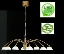 LED Kronleuchter Honsel Julie 11698 Pendellampe 8x 4 watt Altmessing 2560 Lumen