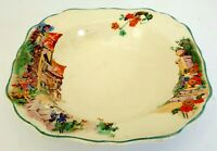 Antique (1912) J&G Meakin Sweet Nell 2 x bowls. Medieval English Village Scene