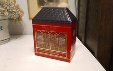 "Crabtree & Evelyn Captivate Senses Christmas ye old shoppe tin 7.25x9.5"" empty"