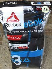 NEW REEBOK MENS UNDERWEAR 3 PACK BOXER BRIEFS PERFORMANCE BIG & TALL 4XL XXXXL