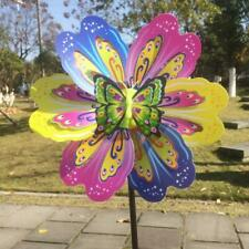 Butterfly Flower Windmill Colourful Wind Spinner Garden Yard Decoration To ii