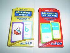 School Zone Bilingual Spanish Alphabet and Basic Sight Words Set Flash Cards New