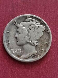 1935 D USA Mercury Dime (900 Silver)
