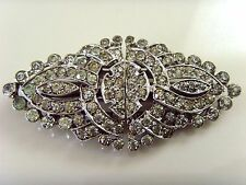 VINTAGE ART DECO PASTE DRESS CLIP OR BROOCH