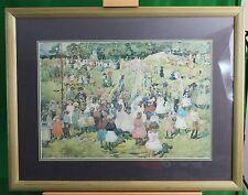 CENTRAL PARK 1901 FESTIVE OUTDOOR SCENE MAURICE PRENDERGAST FRAMED PRINT