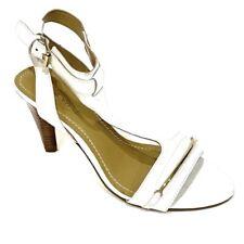 NINE WEST  White Open Toe Ankle Strap Heel Sandal Formal Shoe Women's Size 5.5