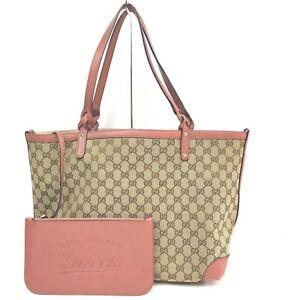 Gucci Tote Bag  Browns Canvas 712140