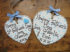 Personalised Fathers Day Gift Heart Plaque Sign Dad Daddy Grandad Handmade