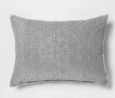OpalHouse Stitched Medallion Pillow Sham Opal House Collection, Standard, Gray