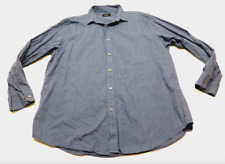 Alfani Mens Size XL Blue Checkered Weave Button Front Shirt Great Condition
