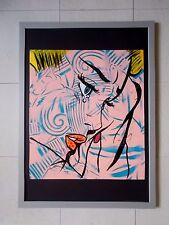 "Dillon Boy "" Rich Girls don't Cry ""  Peinture Originale sur Toile  Graffiti Art"
