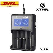 XTAR VC4 Intelligentes Ladegerät für Li-Ion und Ni-MH AA / AAA Akkus USB Display