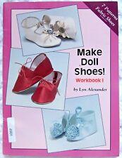 Make Doll Shoes 7 Designs Pattern Book 1991 - Lyn Alexander