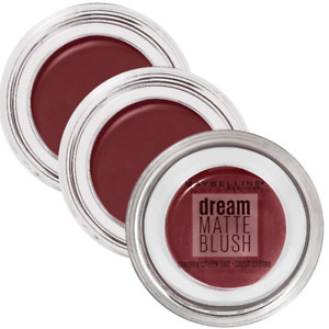 3x Maybelline Dream Matte Blush Cheek Tint 80 Burgundy Flush Makeup Warehouse