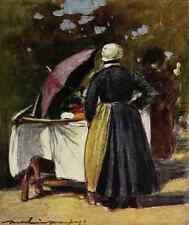 A4 Photo Menpes Mortimer 1855 1938 Paris 1909 A Cake Stall Print Poster