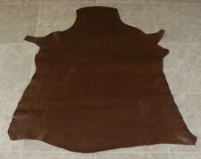 (Bba7597-8) Hide of Finished Red Brown Lambskin Leather Hide Skin