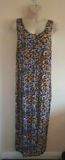 Ladies Yellow And Pink Leopard Print Sleeveless Maxi Dress From Very Size 24