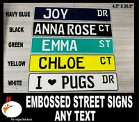 Custom Personalized Street Signs, kid's decor, garage sign, road sign, baby room