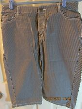 Croft and Barrow Natural Fit Women's Stretch Black and White check Bermuda Sz 10