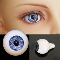 1/3 1/4 1/6 bjd 12mm acrylic doll eyes metallic blue full eyeball dollfie AE-62