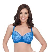 NWT $52 Parfait by Affinitas Elena Unlined Wire Bra 5072 UK  D-G French Blue