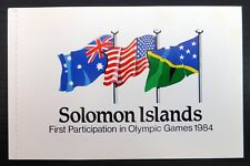 BRITISH SOLOMON ISLANDS 1984 Olympic Games Booklet SB7 Cat £8.50 NF931