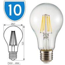 10x Kanlux 8W Standard Cap E27 Edison GLS Dixi Filled Filament Lamp Light Bulb