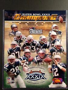 New England Patriots SUPER BOWL XXXIX CHAMPIONS 8x10 Composite Photo
