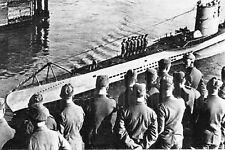 WW2 - U Boote allemand rentrant à sa base
