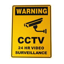 WARNING SIGN Metal SECURITY CAMERA CCTV 300x225mm UNDER 24H SURVEILLANCE OUTDOOR