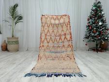 "Moroccan Handmade Vintage Beni Ourain Wool Carpet 2'6""x 6' Berber Bohemian   Rug"