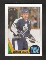 1987-88 OPC O-Pee-Chee WENDELL CLARK #12 NEAR MINT Toronto Maple Leafs
