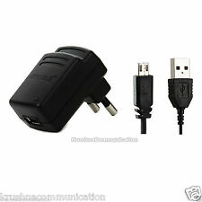 ERD wall ROOM TRAVEL charger ADAPTER+ micro usb data cable BLACK TC-50