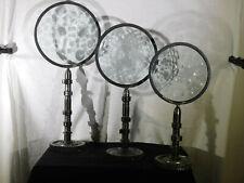 Feliciano Bejar Listed Artist Set of 3 Crystal Magiscope Sculptures Signed