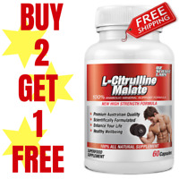L-CITRULLINE - 60 Cap - Nitric Oxide - Strength - Pump Pre Workout Buy 2 -1 FREE