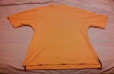 FootJoy Mens Canary Yellow Short Sleeve Crewneck Moisture Wicking Golf Shirt m