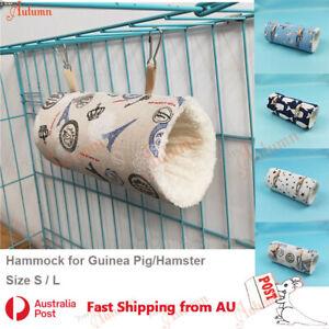 Pet Tunnel Hammock Linen Plush Cotton Cage Hanging Guinea Pig Hamster Warm Sleep