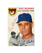 RAY BLADES signed 1954 TOPPS baseball card #243 CUBS
