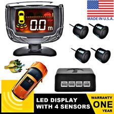 Car LED Parking Sensors 4-Sensor Rear Detector Reversing Assistance System USA