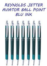 6X REYNOLDS JETTER AVIATOR RETRACATBLE BALL PEN (MIX BODY COLOR BLUE INK)