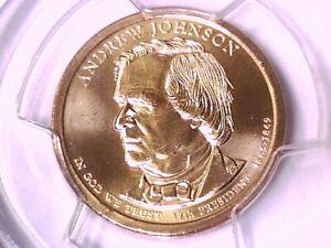 2011 P Andrew Johnson Presidential Dollar PCGS MS 67 Position B 20507577