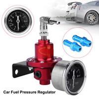 Universal Auto coche combustible regulador de presión ajustable con medidor de