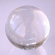 LARGE 4 Inch 100mm Crystal Clear Glass Quartz Crystal Sphere Ball s46