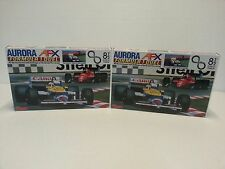 TOMY AFX AURORA RACING FORMULA 1  X2 SETS, CARS INCLUDED New and boxed  VINTAGE