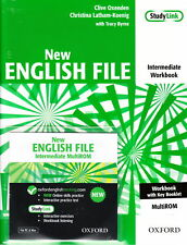 OXFORD NEW ENGLISH FILE Intermediate Workbook w Key &MultiROM @New 9780194518062