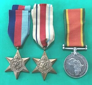 UNRESEARCHED TRIO OF WWII MEDALS - SOUTH AFRICA - A. GELDARD