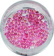 Halbperlen 1.2mm  ca. 50 Stk. Pearl Glitzer Pearl Nail Art Rosa #00572-02