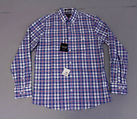 Nordstrom Men's Shop Men's Regular Fit Plaid Sport Shirt CK6 N/PK/WHT Medium NWT