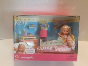 Kelly Love 'N Care Chickenpox Doll Barbie Bed Accessories Sister NRFB New NIB